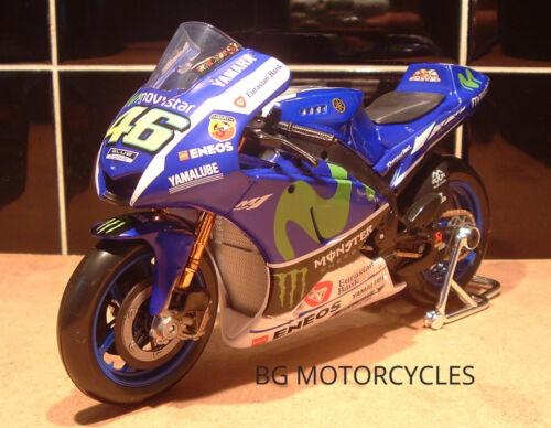 1:10 Movistar Monstre FACTORY YAMAHA YZR-M1 Diecast Toy Model Valentino Rossi 46