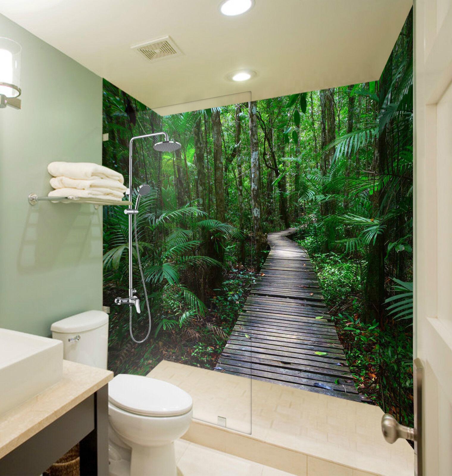 3D Forest Wood Road 081 WallPaper Bathroom Print Decal Wall Deco AJ WALLPAPER CA