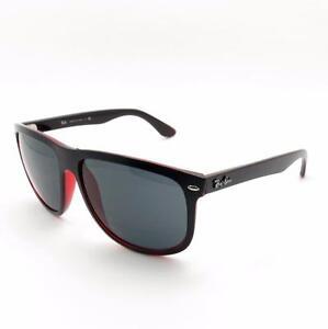 e97f714ee06 Ray Ban Rb 4147 6171 87 Negro Rojo Gris Nuevo Auténtico Gafas De Sol ...