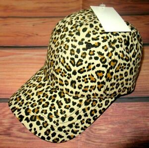 MENS-FOREVER-21-CHEETAH-ANIMAL-PRINT-HAT-STRAPBACK-ADJUSTABLE-CAP-ONE-SIZE