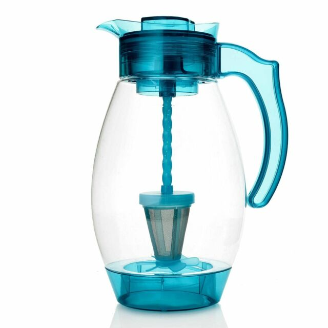 Cook/'s Companion 4-in-1 Chill Mix Infuse /& Filter 3QT Pitcher Crystal