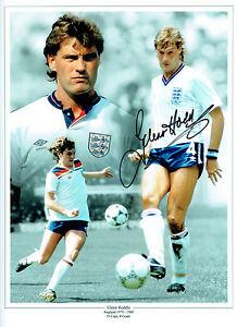 Glenn Hoddle Signed Autograph 16x12 England Montage Photo Aftal Coa Ebay
