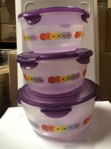 115 Oz Plastic Bowl Food Storage Lock and Lock  3 Piece Set  47-71