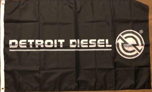 Detroit Diesel flag 3X5 Black banner DDC Engine Manufacturer Man Cave Garage