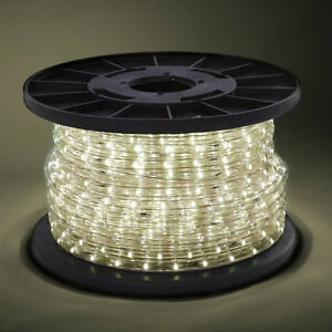 100' 2 Wire Warm White LED Rope Light In/Outdoor 110V ...