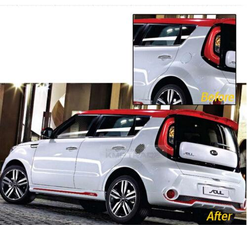 Fuel Tank Door Cap Cover Black Carbon Decal Sticker for KIA 2014-2017 2018 Soul