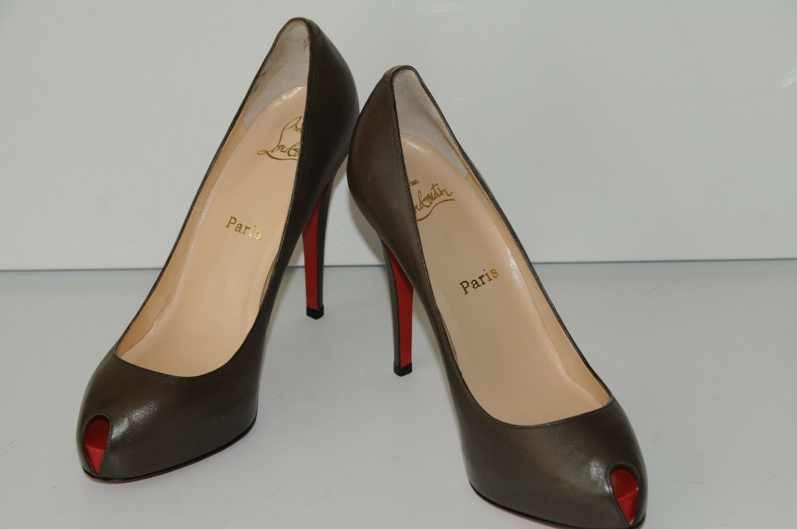 New Christian Louboutin Mini Bout Bout Bout Brown Red Pumps Platform Heels shoes 40 a4dee2