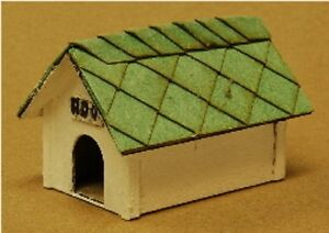 Dog House Building Kit 2 Pack O Scale Model Train Layout