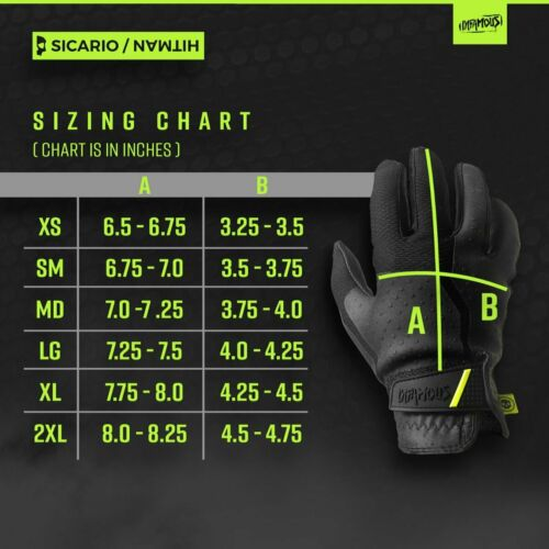 Details about  /Infamous Paintball Pro DNA Sicario Gloves Black XXL