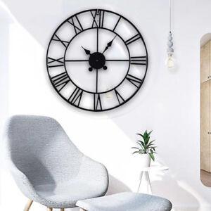 Grand-jardin-exterieur-Horloge-Murale-Big-Chiffres-Romains-geant-Ouvert-Visage-e