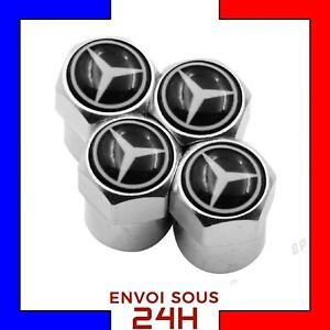4x-Bouchons-de-valve-Mercedes-Benz-voiture-moto-valve-tire-caps-cap-sport-classe