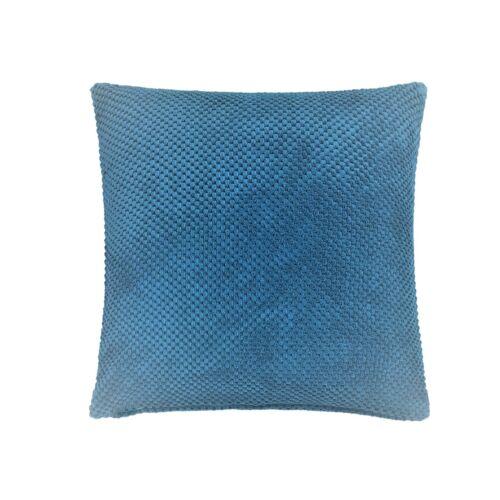 """Rempli Moderne Épais Doux Chenille Spot à Pois Bleu Sarcelle Coussin 22/"""""""
