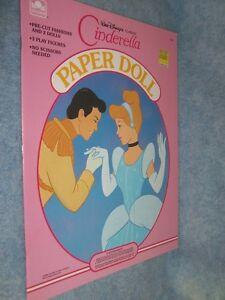 1989 Golden Walt Disney Classic Cinderella Paper Doll #1545 VTG Uncut