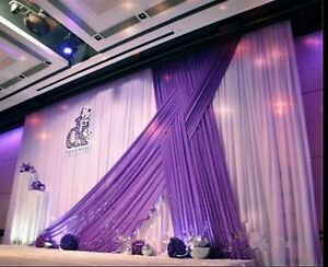 Luxury backdrop drapes for wedding party stage decoration fabric image is loading luxury backdrop drapes for wedding party stage decoration junglespirit Choice Image