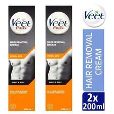 2 x Veet For Men Chest & Body Hair Removal Cream 200ml For Normal Skin