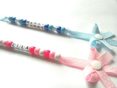 PERSONALISED DUMMY CLIP ALSO BOW DUMMY CLIPS