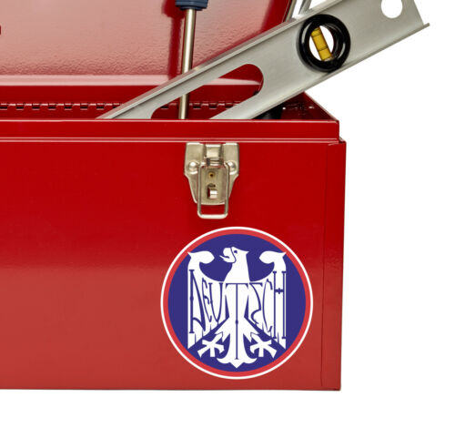 2 x Deutsch Vinyl Sticker Decal Luggage Travel German Germany Deutschland #5440