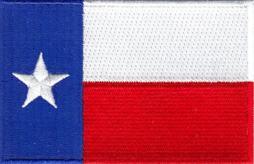 LONE STAR STATE TEXAS STATE FLAG Iron On Embroidered Patch STATE OF TEXAS
