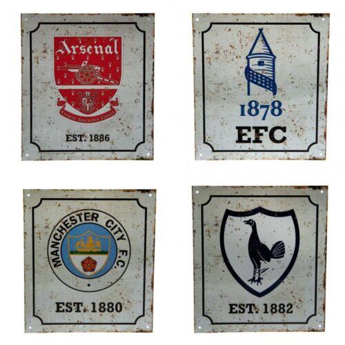 Football Club Team Retro Distressed Logo Crest Fan Wall Sign Official Sports