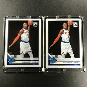 RJ-BARRETT-2020-PANINI-DONRUSS-OPTIC-178-RATED-ROOKIE-2-CARD-LOT-RC-KNICKS