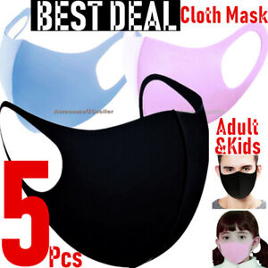 5Ps Face Masks Men Women  Unisex Kid Cover Clothing Mask Reusable Washable Cloth