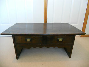 Other Asian Antiques Rare Korean Joseon Dynasty Scholar's Low Desk With 2 Drawers Antiques