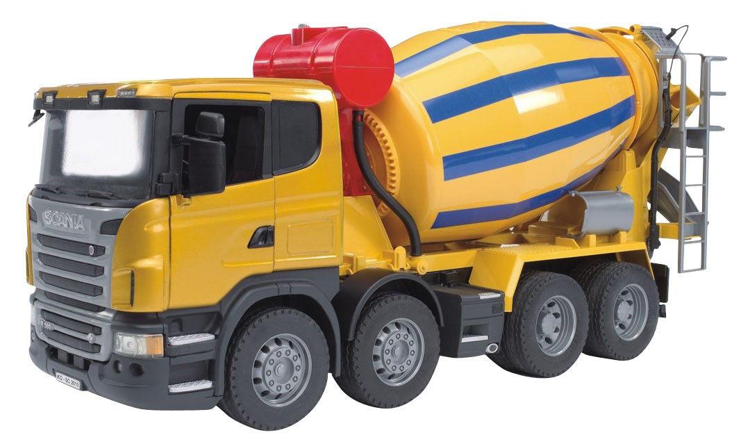BRU3554 - Camion 8x4 SCANIA malaxeur toupie jouet BRUDER -  1 16  contre authentique