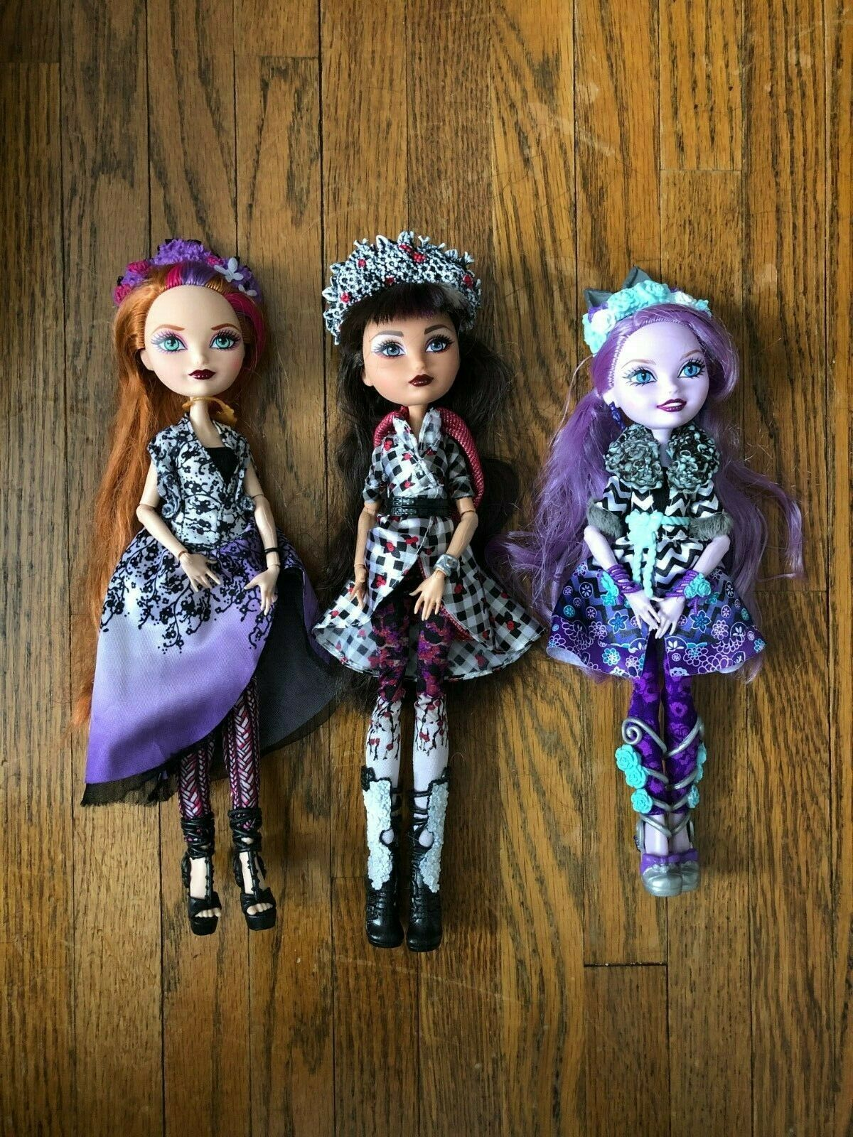 Ever After High Dolls Spring Unsprung Holly, Kitty, Cerise wolf