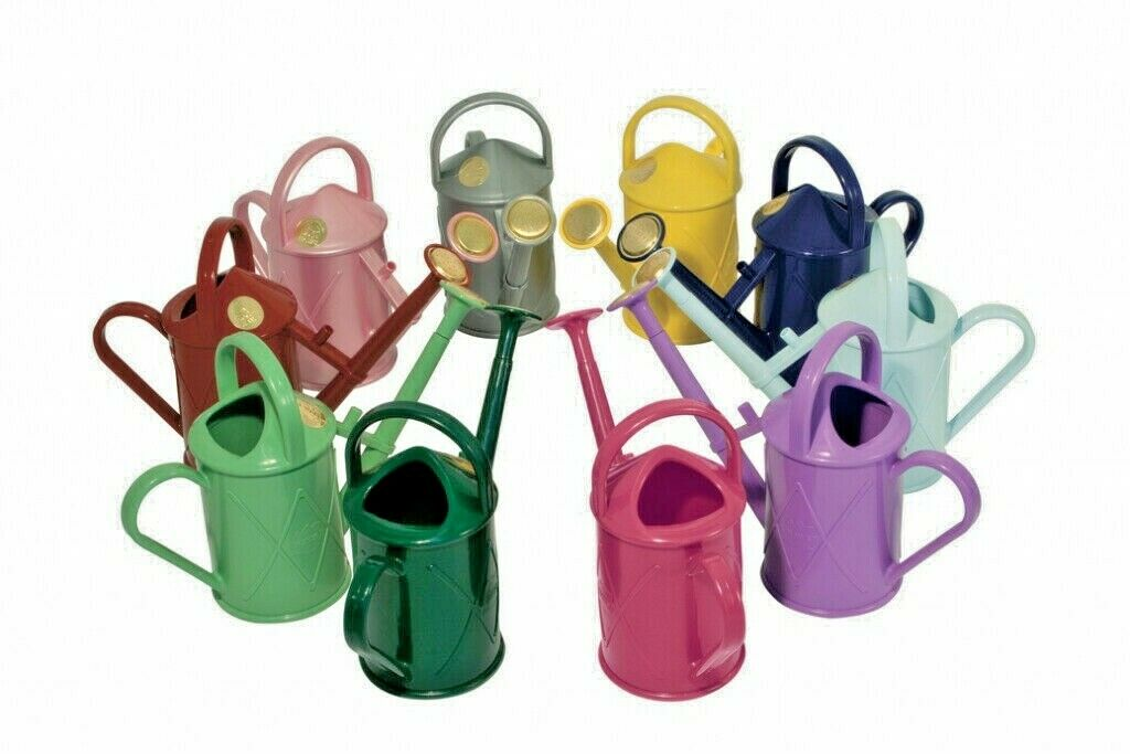 Haws 1L Litre Heritage Plastic Indoor Outdoor Watering Can - Various Colours