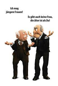 Muppets-Waldorf-Statler-Motif-1-Panneau-Metallique-Plaque-en-Etain-20-X-30-CM