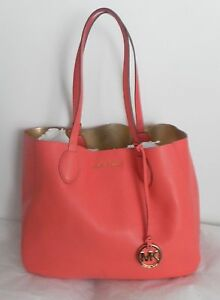 a3fb43305a043e NWT MICHAEL Michael Kors Mae Large East West Reversible Tote Pink ...