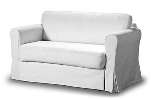 Details about ikea hagalund sofa bed 2 seater white