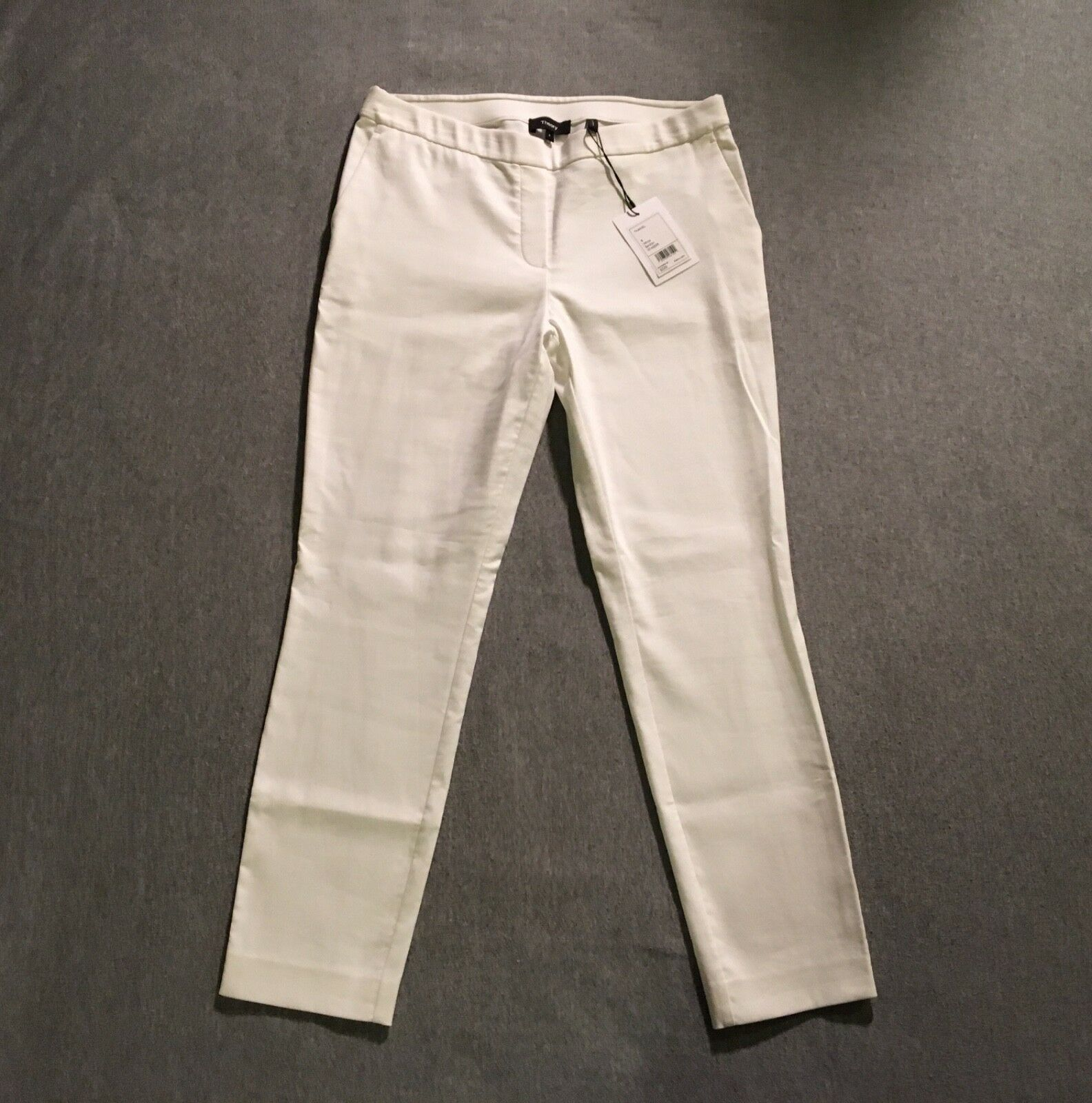 New THEORY Thaniel Sarpton Stretch Cotton Pants Trousers  225 White 8