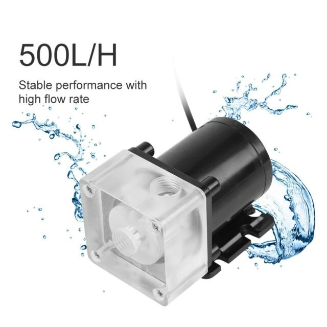 G1//4 Thread 240mm 12V Cylinder Water Cooling Tank Pump for PC CPU Water Cooler