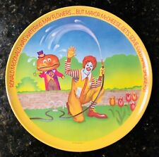 "Vintage 1977 Ronald McDonald 10"" PLASTIC PLATE Spring Mayor McCheese - Lexington"