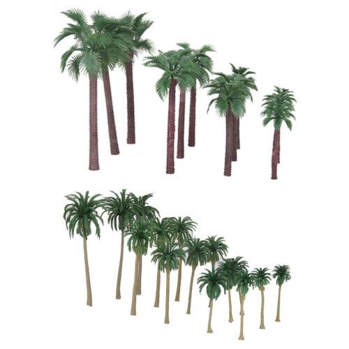 27Pcs 1:65-1:150 Scale Coconut Tree Models Toy HO OO N for Roadway Landscape