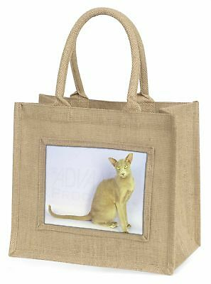 mystisch orientalische Katze große natürliche jute-einkaufstasche