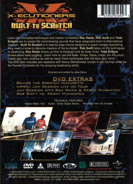 "The X-Ecutioners – ""Built To Scratch""- Hip Hop/Cut-up/DJ Education- New DVD 2004"