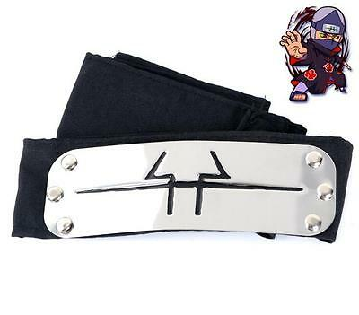 DZ490 On Sale Hot Sale For NARUTO LEAF Black Headband Head Band Cosplay New