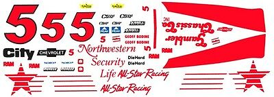 #7 Geoff Bodine QVC 1996 1//32nd Scale Slot Car Waterslide Decals
