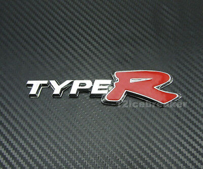 Type-R Racing Emblem Sticker Decal Chrome for Civic Accord Acura NSX Integra 3D