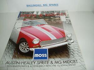 Details about MG MOSS SPRITE & MIDGET PARTS CATALOGUE USA