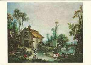 Francois-Boucher-Landscape-with-a-Watermill