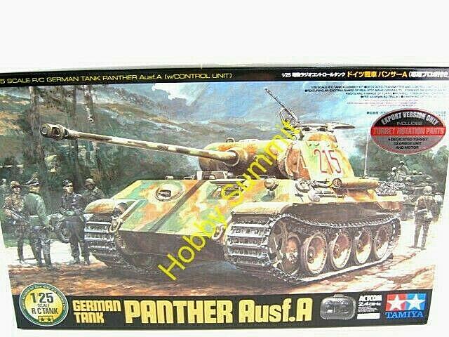 Tamiya 1 25 R C Geruomo PANTHER Ausf.A  Full  Set  2.4GHz WWII Tank Kit   56605  spedizione veloce a te
