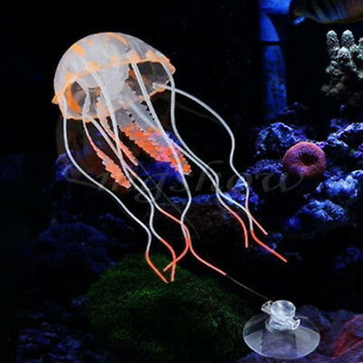 Nice Jellyfish Aquarium Decoration Artificial Glowing Effect Fish Tank Ornament