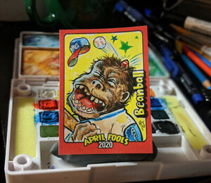 Topps-Wacky-Packages-April-Fool-039-s-Sketch-Card-Beanball-Artist-Proof-1-1