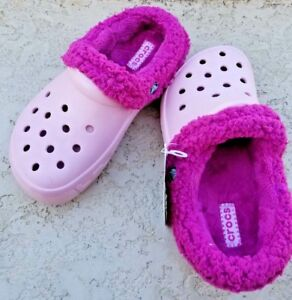 1374716ad3800 NWT Crocs Mammoth EVO Girls Clog Petal Pink Berry REMOVABLE LINING ...