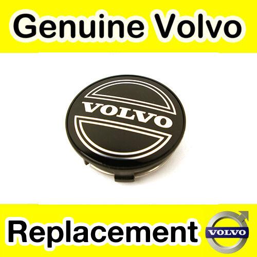 Negro Volvo Aleación Tapa Centro De Rueda V40 -04 Genuine Volvo S40 x1