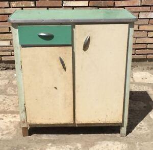 Dettagli su credenza dispensa anni 50 mobile cucina madia modernariato  vintage legno