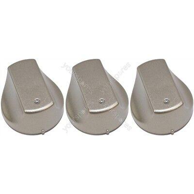 6 boutons de contrôle Silver Commutateur Pour Hotpoint hot-ari IX four cuisinière UHS53X uhs53xs